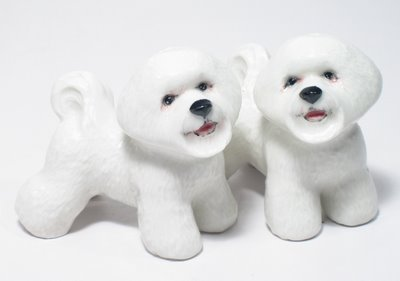 Bichon Frise Salt and Pepper Shakers