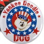 Patriotic Bichon Button